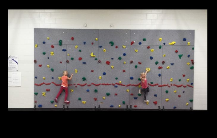 Roland School's Traverse Climbing Wall